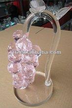 crystal fashion uva cluster para a decoração de cristal roxo uva cluster de decoração para casa