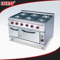 Livre permanente 6 queimadores de fogão a gás forno/fogão a gás com forno/forno a gás gama