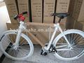 Blanco hh-fg1152 de artes fijos de la bicicleta con el logotipo en la llanta