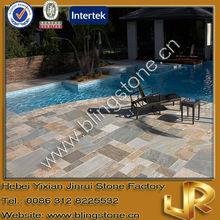 Natural Golden White Stone Floor Paving Slate Tile