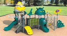 2012 Fashion plastic slide, kids playground equipment, amusement park