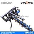 Trencher para skid steer loader, trencher para escavadeira ditcher, cadeia trencher