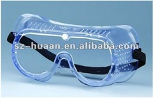 stable,transparent and flexible PVC chemical / dust protective anti-splash & impact safety goggles