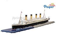 Chrismas gift kids assembling toys vehicle titanic ship model