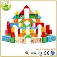 100pcs Enlightenment Building Block Antique Wooden Toy
