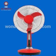 16inch solar dc fan stand fan /table fan with light