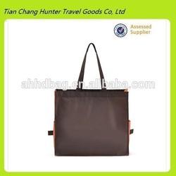 wholesale custom shopping bag/eco foldable shopping bag/ shopping bag with side pocket
