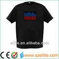 2014 venda quente incandescente el painel para t- shirt