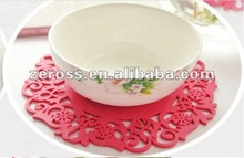 2012 Newest Design Fashion Silicone Cup Holder/Silicone Coaster/Cup Mat With Various Shape