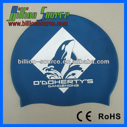 2014 Various colors Adult child silicone swimming cap with customized company logo
