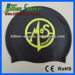 2015 Various colors Adult child silicone swimming cap with customized company logo