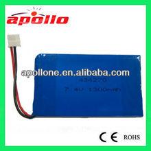 Hot sale7.4v batteria lipo 7.4V 1300mAh Li-polymer battery