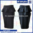 2015 Fashion Latest falbala office girls with tight short skirts /ladies office uniform skirts designs