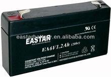 High Quality Sealed Lead Acid Battery 6V 1.2Ah