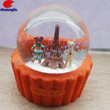 Snow Globe Souvenir, Snow Ball, Eiffel Tower Building Model