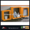 decorativos para el hogar 4 cube estante de la pared