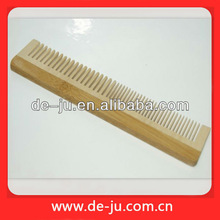 Promotion Gift Comb Head Massager Flat Long Hand Holder Wood Comb