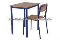 used school desk chair/school single desk and chair/cheap school desk and chair
