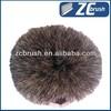 Long handle soft bristle flow through car wash brush