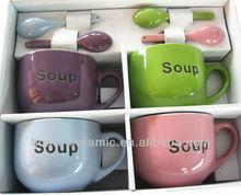 Soup logo on cups ceramic