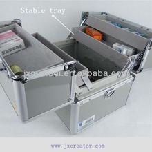 MLD-FAC18 Light gray good design medicine case kit with aluminum box