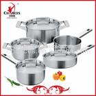9Pcs Technique European Stainless Steel Cookware Pot