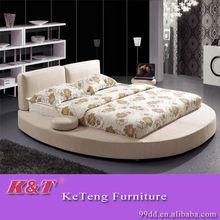 Latest fabric soft modern round bed 1.8M