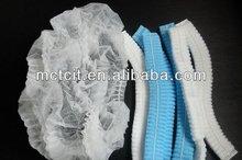 Disposable ISO pp nonwoven clip cap/mob cap / single elastic / hairnet / surgical cap /pink