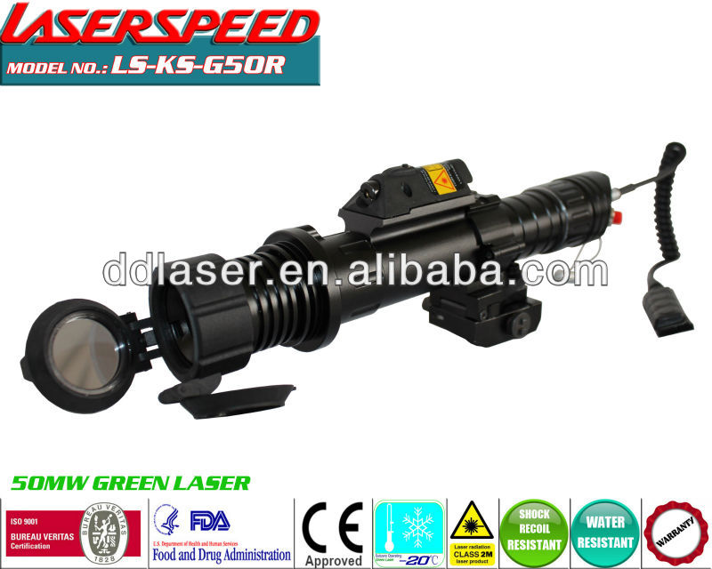 KS-CL2-G50R/Tactical subzero long distance 50mw green laser designator + 5mw red laser sight