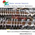 Twin bimatellic tornillo del barril para madera compuestos de polímero( wpc) extrusión línea de producción