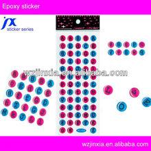 3d epoxy dome sticker,transpert letter stickers,alphabet dome sticker