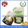 Bottom gusset Plastic pet food bag with top resealable ziplock