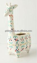 custom cheap animal shaped ceramic flower vase.