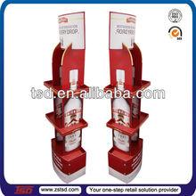 TSD-C205 custom retail promotional wine cardboard floor pop display/cardboard floor display/pop up cardboard display stand