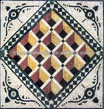 marble mosaic art, oval mosaic marble tile