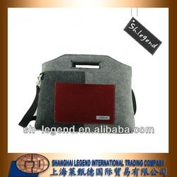 Felt shoulder & handle laptop bag