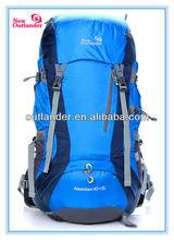 2014 Fashionable 55L Blue Color Waterproof Hiking Backpack Bag