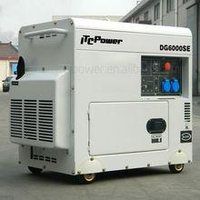 ITCPower 5kVA DG6000SE Diesel silent generator,slient generator,30L Diesel fuel tank