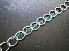 fancy anodized twist link aluminum chain curtain
