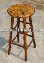 bar stool - bamboo rattan