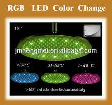 """Modern 16"""" round big shower color change"""