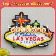 Custom promotional 3d soft pvc country fridge magnet
