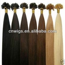 FASHION nail keratin hair extension/nail pre-bonded hair extension/nail sticker hair extension