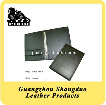 Hot A4 Dimension PU Leather Binder Folder for Loose-leaf Notebook