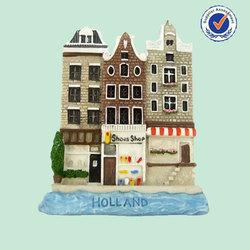 Popular Handmade City Custom 3d Model Souvenir Fridge Magnet