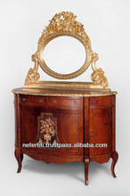 Best Quality Reproduction Entrance Antique Console Table with high class mirror