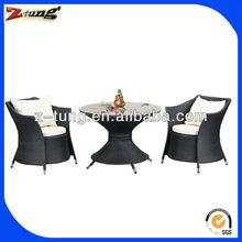 high quality aluminum polyrattan furniture ZT-1023CT