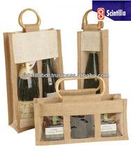 jute bags wine bottle bags