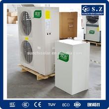 Extramely cold -25C winter floor heating room 100~300sq meter villa split EVI tech .12kW/19kW/35kW air to water heat pump heater