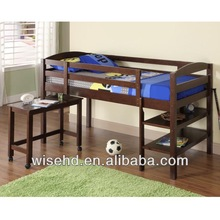 (WJZ-B68) solid wood mid-high bed kids furniture